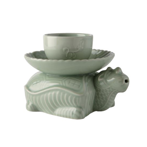 Celadon Turtle Liquor Kattle SET