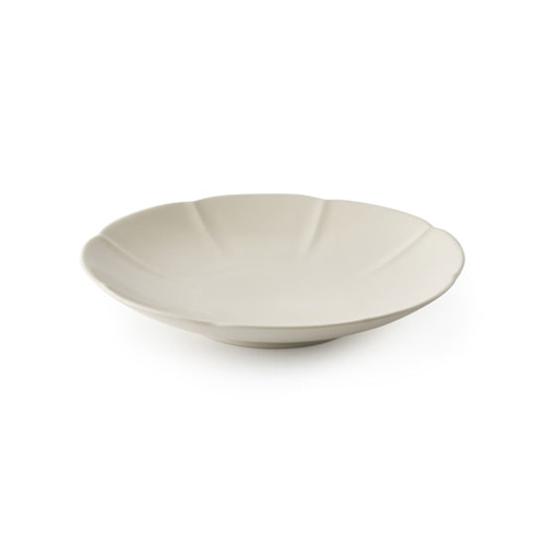 MIGAK ORIENTAL MELON SHAPED PLATE(M)_SNOW WHITE(IVORY)