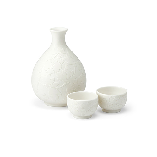 KwangJuyo Heritage MokDan Bottle & Cup Set (White)