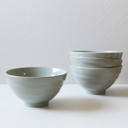 Casual Green Olive 4 Pieces Noodle Bowl Set _  Large