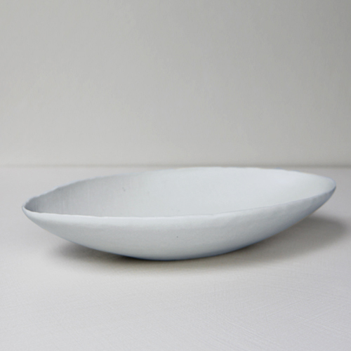 'Han-Kyeol' Oval Bowl 36 -Blue White
