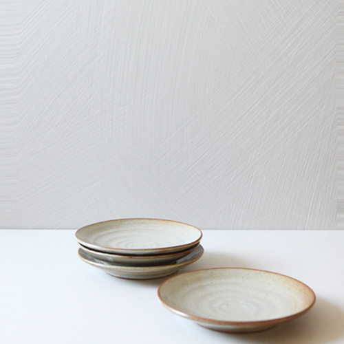 Casual line Oatmeal Round plate 17, set of 4