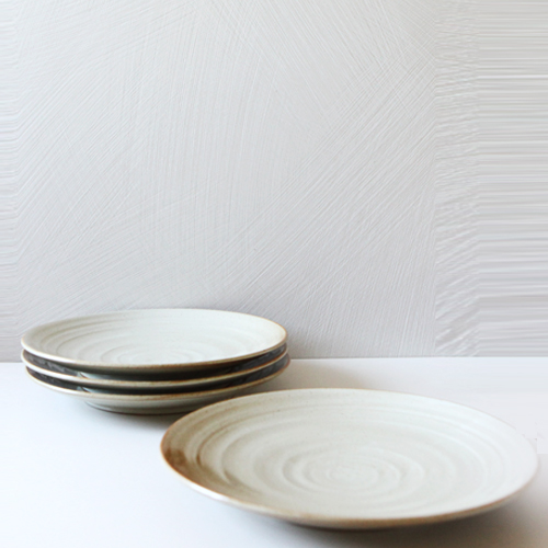 Casual line Oatmeal Round Plate 30, set of 4