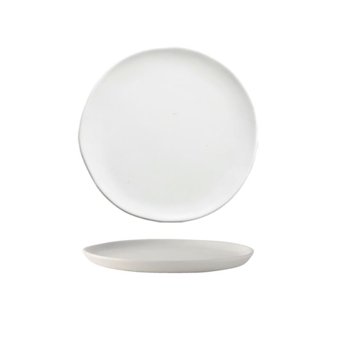 White squiggly-shaped Flat Plate  18