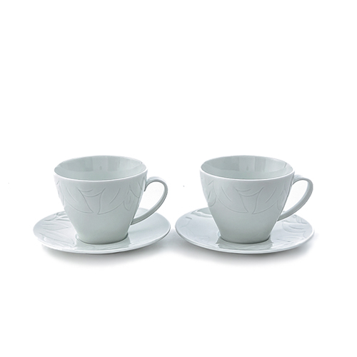 Baek-Ja BaekHwaYongMun coffee cup set for 2