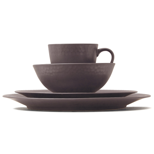Kwangjuyo Me:Ja Bangjja 4-Piece Place Setting,Dark Brown