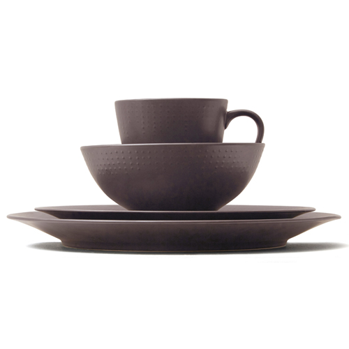 Kwangjuyo Me:Ja Inhwa 4-Piece Place Setting,Dark Brown