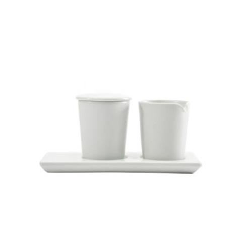 Modern line Sugar Bowl and Cremer Set