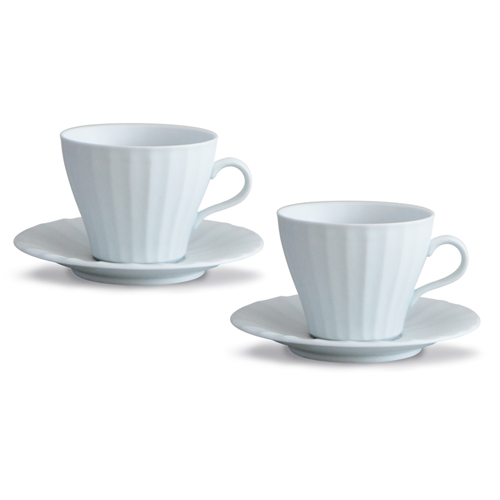 MIGAK COFFEE CUP SET FOR 2_MATT WHITE(WHITE BLUE)