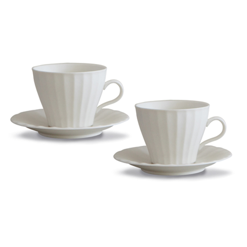 MIGAK COFFEE CUP SET FOR 2_IVORY