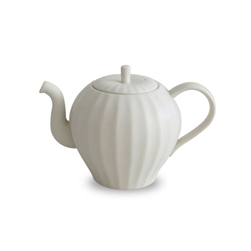 MIGAK APPLE TEA POT_SNOW WHITE(IVORY)