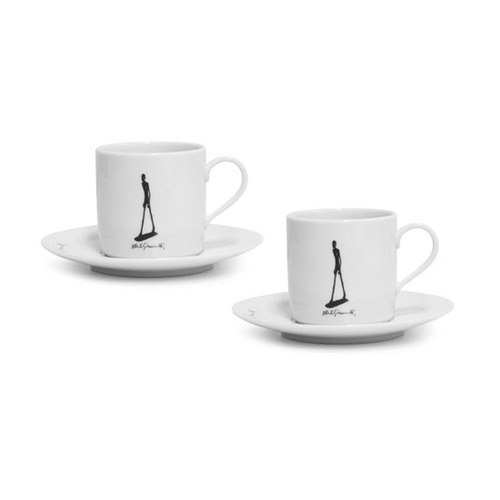 Giacometti 'Walking man' Coffee Cup Set for 2