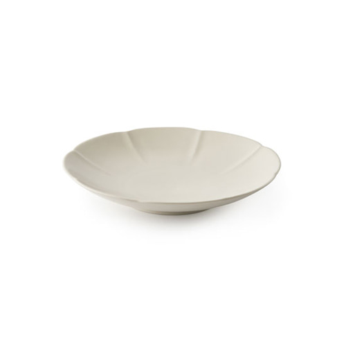 MIGAK ORIENTAL MELON SHAPED PLATE(S)_SNOW WHITE(IVORY)