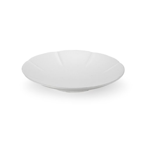MIGAK ORIENTAL MELON SHAPED PLATE(M)_WHITE