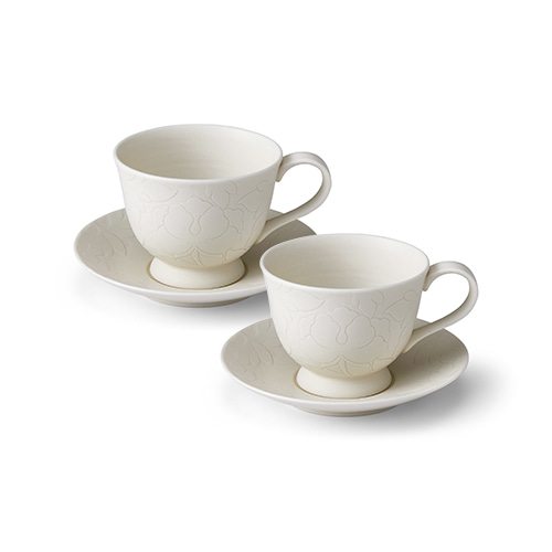 KwangJuyo Heritage MokDan Coffee Set for 2 (White)