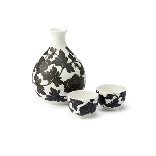 KwangJuyo Heritage MokDan Bottle & Cup Set (Black)