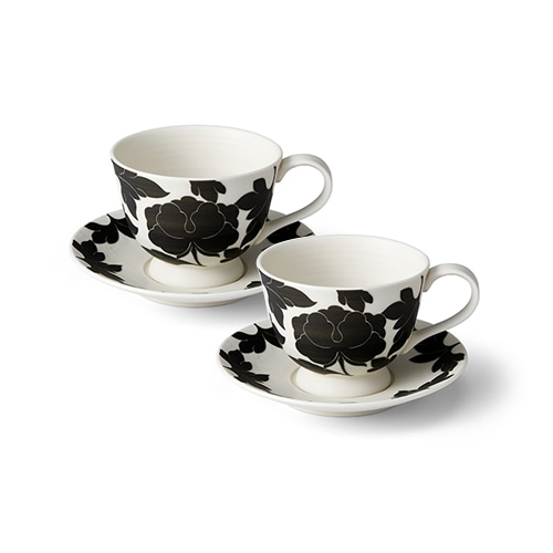 KwangJuyo Heritage MokDan Coffee Set for 2 (Black)